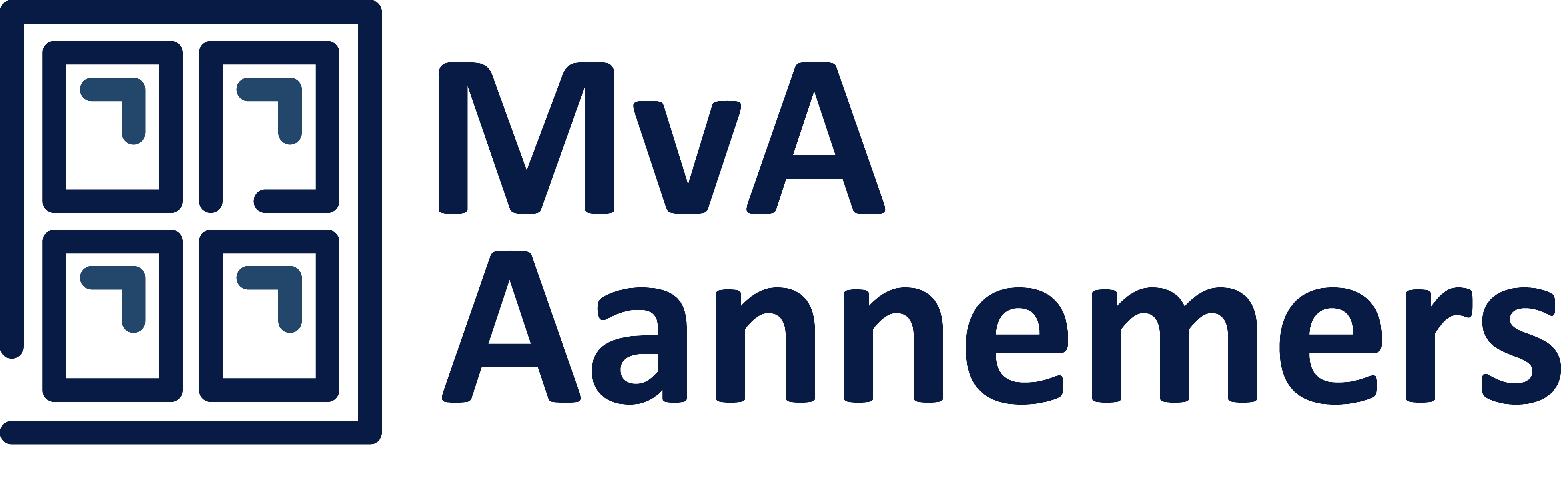 MvA Aannemers - Logo Blauw